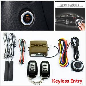 Auto Car Alarm Security System Keyless Entry Push Button Remote Engine Start Kit