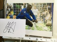Jimmy Floyd Hasselbaink - Chelsea & Leeds Signed Card & 10x8 Photo
