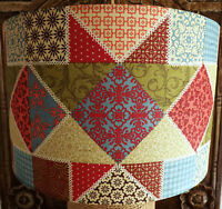 "Shaker Patchwork Lampshade Made UK Drum Lamp Ceiling 8""10""12""14""16""18"" Shabby"