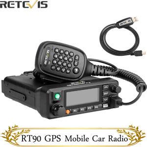 DMR GPS Retevis RT90 Mobilgerät Car Ham Radio Digitales Funkgerät 50W UHF+VHF