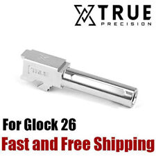 True Precision X-Fluted Match Grade 9mm Barrel for Glock 26 - Stainless Steel