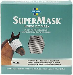 Farnam Supermask Fly Mask - Foal - Hunter Green / Gray -