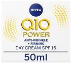 Nivea Q10 Power Anti-Wrinkle + Firming Day Face Cream Moisturiser SPF15 50 ml