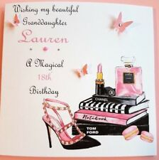 HANDMADE PERSONALISED BIRTHDAY CARD 18TH  21ST 40th DAUGHTER SISTER FRIEND AUNT