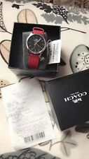 New Coach Red Rudy Leather Women Watch With Star hangding Drop