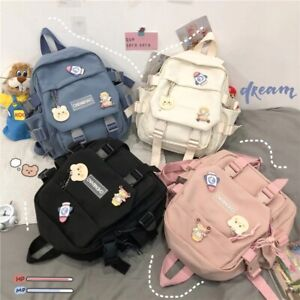 Korean Style Canvas Small Mini Backpack For Women Fashion Travel Leisure School