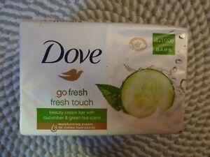 DOVE~FRESH TOUCH~~CUCUMBER & GREEN TEA~~BEAUTY CREAM BAR 3.5 OZ X 4 BARS NIP