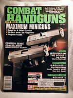 COMBAT HANDGUNS  MAGAZINE~ SEPT 1998 ~ NEW BREED MAXIMUM MINIGUNS