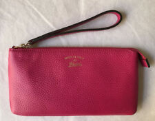 NWT $470+ Gucci 368878 CAO0G Pebble Leather Wristlet, Color Blossom W/G.Receipt
