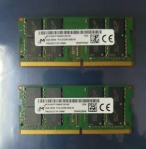 Micron PC4-17000 PC4 2133P 16GB 2X8GB DDR4 2RX8 2133MHz 260pin Laptop Memory