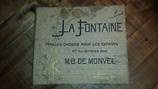 LA FONTAINE Fables Choisies Pour Les Enfants - M.B. De Monvel, Illustrated