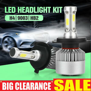 Pair H4 9003 HB2 12000LM LED Headlight kit Lamp Bulbs Globes Hi-Lo Beam Upgrade