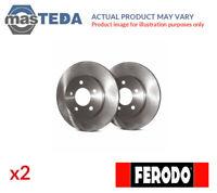 2x FERODO REAR BRAKE DISCS SET BRAKING PAIR DDF 929 P NEW OE REPLACEMENT