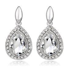 Crystal Bridal White Queen Bridal Luxury Party Women Drop Stud Earrings E1317w
