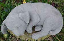 Cane a pelo decorazione giardino di pietra pietra mano Cast Statua Scultura Da Giardino