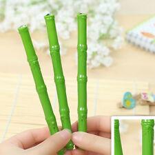 2pcs Cute Kawaii Green Bamboo Pen Stationery Office School Student 0.38mm