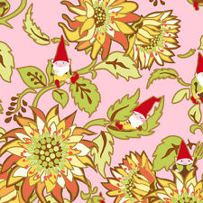 In The Beginning Fabrics ~ Better Gnomes & Gardens ~Heather DuPont ~1HDB2 ~ Pink