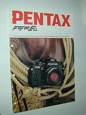 PENTAX  PROGRAM A catalogue publicitaire photographie photo