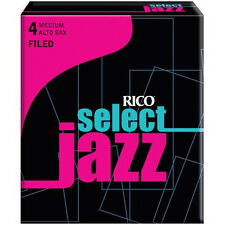 1 Box of 10 Rico Select Jazz Reeds Alto Saxophone 4-Medium (4M) Filed RSF10ASX4M