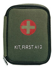 First Aid Pouch Olive Drab Military Zippered First Aid Pouch - Pouch Only 8325