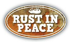 rust in peace sticker vw hotrod ratlook vauxhall kustom 120mm