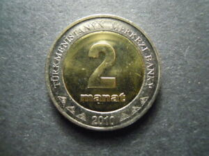 2010 Turkmenistan 2 manat UNC