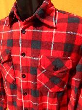 N&P Nuopai Sur Chemise Shirt Camisa Vintage Plaid Carreaux Grunge Wool Winter