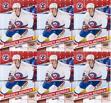 2017 UD NATIONAL HOCKEY CARD DAY MIKE BOSSY CAN-13 HOCKEY HEROES LOT (6) NYI