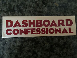 Dashboard Confessional sticker promo for cd