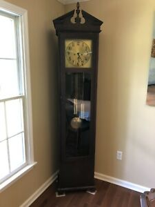 Antique Grandfather Clock - Colonial Mfg. Empire Style - '20's, Mahogany, German