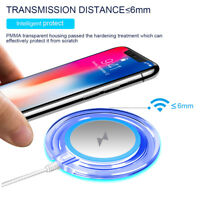 Qi Fast Wireless Charger Pad Dock Stand Holder Quick Charging For iPhone Samsung