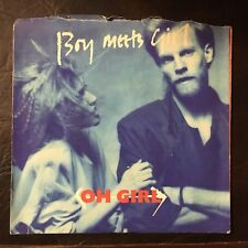 Boy Meets Girl - Oh Girl picture sleeve Heaven A&M label 45 rpm 1985