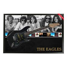 THE EAGLES SIGNED FRAMED FULL SIZE STRATOCASTER GUITAR HENLEY FREY WALSH SCHMIT