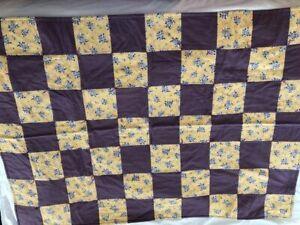 "Homemade Quilt Patchwork Lap Sz 53""x38"""