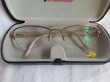LADIES LEGACY Rx GLASS FRAMES-WR 3001-YG 53 18 135-TAN-CLEAN W/CASE
