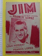 partition JIM - Francis Lopez Louis Poterat - Salabert