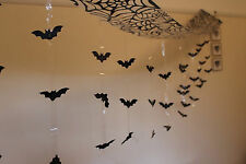 HALLOWEEN GRUESOME BUNTING BAT ATTACK 3m CEILING DECORATION