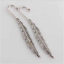 10 Tibetan Silver Leaves Bookmark Jewelry Making Findings 80mm