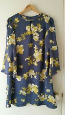 NEW Golden Floral shift dress with Bell sleeve size 10-12