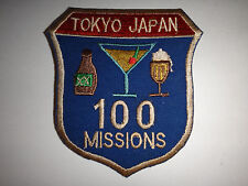"""US 7th Airborne Command & Control Squadron """"TOKYO JAPAN 100 MISSIONS"""" War Patch"""