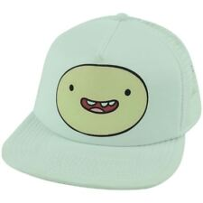 Cartoon Network Adventure Time Finn White Trucker Mesh Snapback Flat Bill Hat