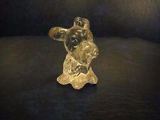 Vintage Fenton Glass Clear Scottish Terrier Scottie Dog Figurine