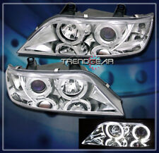 1996-2002 BMW Z3 HALO PROJECTOR HEADLIGHTS LAMPS CHROME 1997 1998 1999 2000 2001