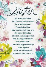 Hallmark Happy Birthday  Sister It's Your Birthday Greeting Card