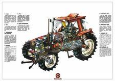 Fiat Fiatagri F-Series F140 Cutaway Ford New Holland Brochure Poster Advert A3