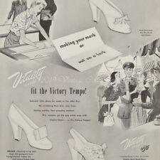 1944 Vitality High Heel Shoes Women's Pumps Fashion photo art decor print ad
