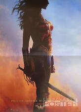 WONDER WOMAN - GAL GADOT / PINE / DC COMIC - ADVANCE SMALL FRENCH MOVIE POSTER
