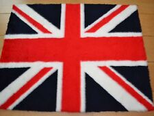 New Small Size Red White Blue Union Jack Rug Fluffy Soft Bedroom Floor Mat Cheap