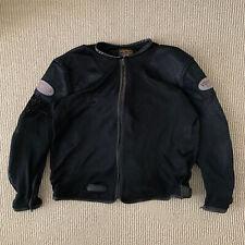 Vintage Vanson Leathers Mesh Riders Jacket Black Racing Size XL Padded Arms