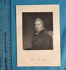 Original 1846 impresión de grabado antiguo Edward Jenner MD FRS mote Fisher